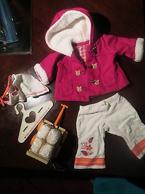 American Girl~Bitty Baby~HARVEST PLAID~TOGGLE COAT