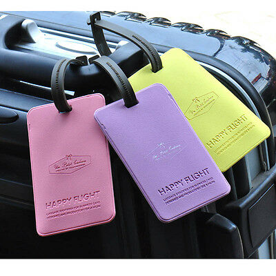 New 5 Colors Travel Luggage Tag Baggage Suitcase Bag Labels Name Address