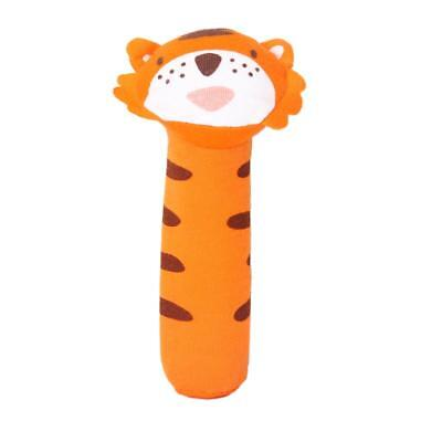 Cute Tiger Squeaky Baby infant Kids Squeaker Rattle Soft plush Toy gift