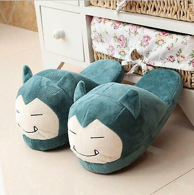 Pokemon Go Snorlax Plush Half Slippers Indoor Shoes Cosplay Soft Stuffed Toy