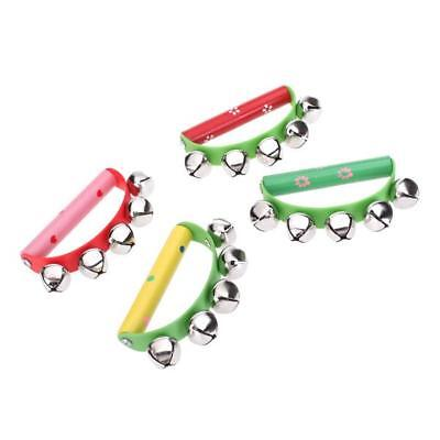 Jingle Percussion Sleigh Hand Bells tambourine party Toy Musical Instrument