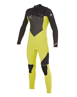 NEW QUIKSILVER™  Boys 8-16 Syncro 3/2MM GBS Chest Zip Steamer Wetsuit. Boys Teen