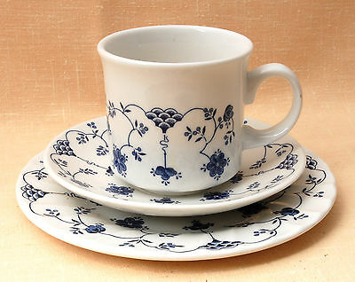 Churchill, England, Coffee Trio, (3 sets available) Georgian, Blue & White