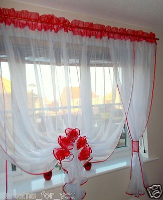 Ready Made Voile Net Curtains 11 Colours Available 118''300 Cm 157''cm Width