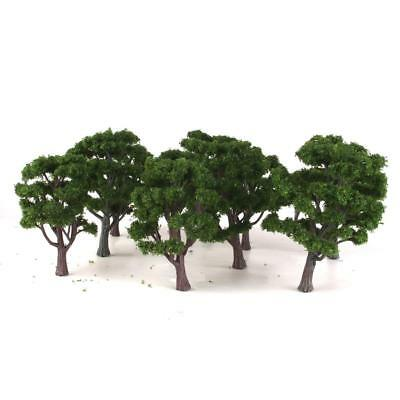 10 Green Trees Model Train Railway Diorama Scenery Landscape Layout HO OO N