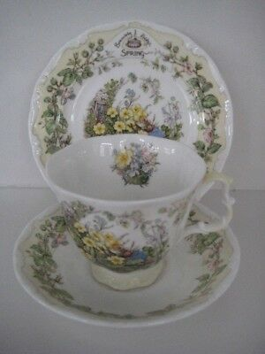 Royal Doulton Brambly Hedge  Spring Full Size Trio Cup Saucer & Plate Bone China
