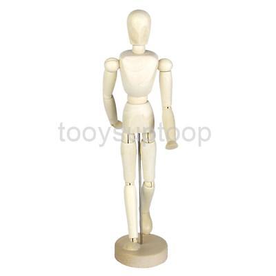Wood Manikin Mannequin Moveable Limbs Human Figure Art Drawing Sculpting 12""
