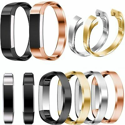 Stainless Steel Cuff  Wristband Bracelet Metal Watch Band Strap For Fitbit Alta