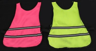 High Visibility Hi Viz Running Vest Reflective Cycling Bib Safety Top