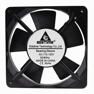 AC 110V 17CFM 120mm 120x120x25mm Brushless PC Computer Cooler Fan Industry Fan