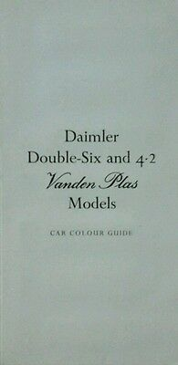 Daimler Vanden Plas Car Colour Guide - 4.2 & Double Six models