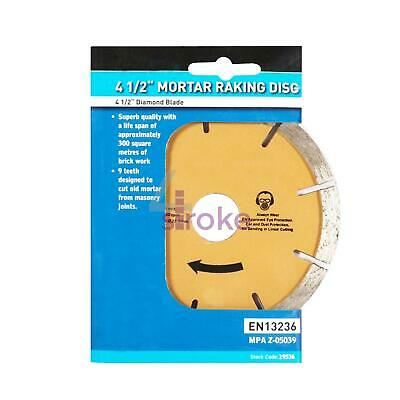 "Mortar Raking Disc Diamond pointing Raker 115mm 4.5"" angle grinder Blade"
