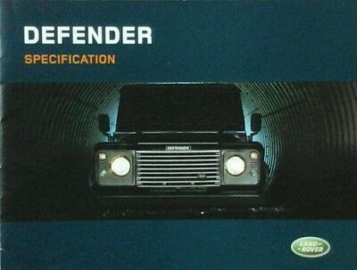 Land Rover Defender   90  110  130 Specification Guide Brochure -  2004