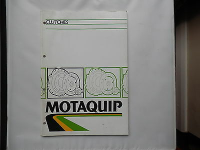 MOTAQUIP Clutch Catalogue issued approx 1983  lists from late 1960's