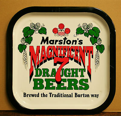 Marston's Magnificent 7 Beer Vintage 1970's Advertising Pub Beer tray Retro