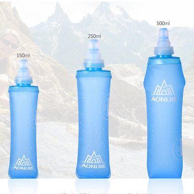 Foldable Soft Flask TPU Squeeze Outdoor Sports Running Water Bottle Hydration