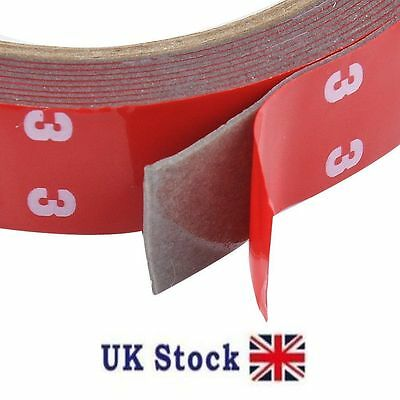 3m x 20mm Auto Car Acrylic Double Sided Adhesive Tape - UK  Stock