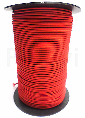 25 Meter (€ 0,38/M) Corde Élastique 3 mm D'Extension Rouge (34)
