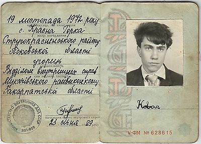 Ussr: Photo Document Issued To An Hungarian (1989) (# 4487)