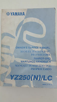 Yamaha Motorbike YZ250(N)/LC Factory Owners Service Manual. 1st ed., July 2000