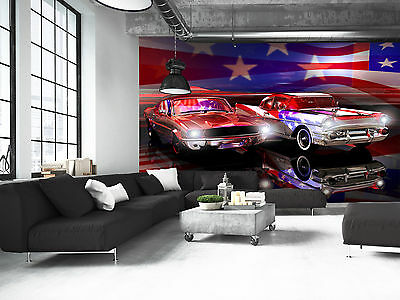American Classic Car Wall Mural Photo Wallpaper GIANT DECOR Paper Poster