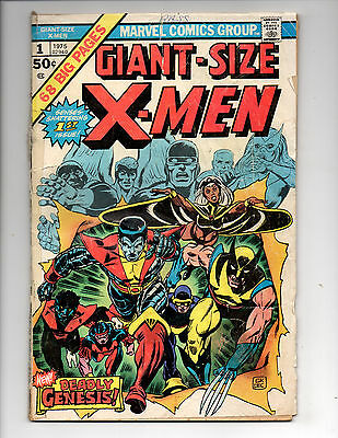 Giant Size X-Men #1 (1975, Marvel) 1st App Storm, Nightcrawler & Colossus, Fa+/G