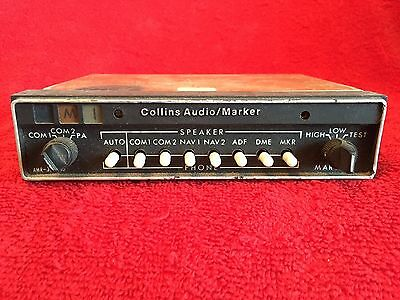 Collins Amr 350 Audio Panel Marker Beacon With Tray P/n 622-2087-016