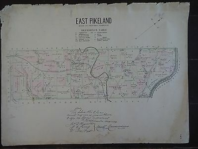 HISTORIC 1883 Map of the Town of East Pikeland, PA  - Property Specific Detail