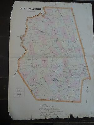 LARGE, HISTORIC 1883 Map of West Fallowfield, PA - Property Specific Detail