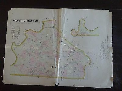 LARGE, HISTORIC 1883 Map of West Nottingham, PA - Property Specific Detail