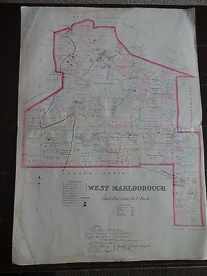 HISTORIC 1883 Map of the Township of West Marlborough, PA - Detailed Specific