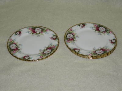 4 Unused Royal Albert Celebration Bread Dessert Plates