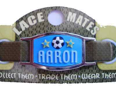 Personalised Named AARON LACE MATES For Shoelaces Jewellery Making Wristbands