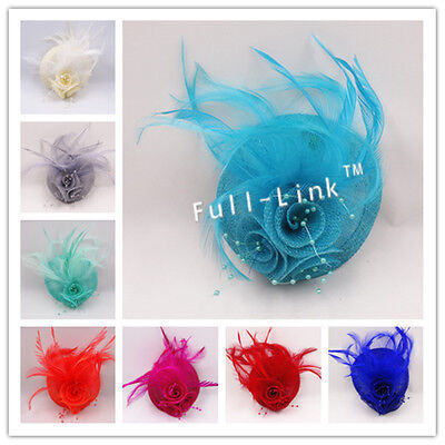 Feather Flower Headband Fascinator Weddings Ladies Day Race Royal Ascot SF6670