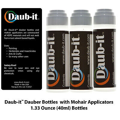 Bottle with Mohair Dauber Applicator - 3 Pack - HDPE