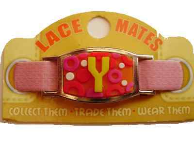 Personalised Named INITIAL Y LACE MATES For Shoelaces Jewellery Making Wristband