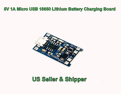5V 1A Micro USB 18650 Lithium Battery Charging Board Charger US Seller & Shipper