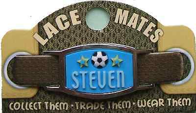 Personalised Named STEVEN LACE MATES For Shoelaces Jewellery Making Wristbands