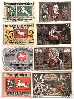 RARE COMPLETE NOTGELD SET A DAY IN THE LIFE OF GERMANY'S MOST BELOVED JESTER lol