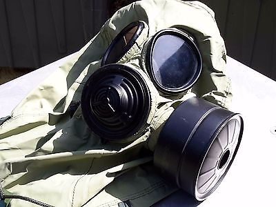 Military 40mm NATO Gas Mask w/Drink Port, Hood, Pouch & NBC/CBRN Filter Exp 2022