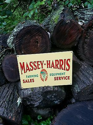 Massey Harris Sales & Service Sign Farming Machinery Seed Feed Gas Oil