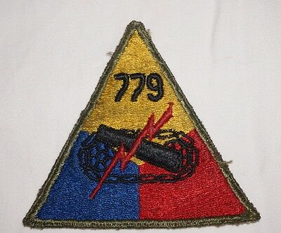 779th Tank Battalion Patch WWII US Army P0779