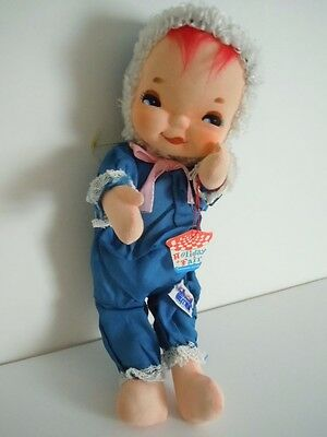 "Super Rare 1965 Japan Made Holiday Fair Big Eyes Doll ""butterball"" New With Tags"
