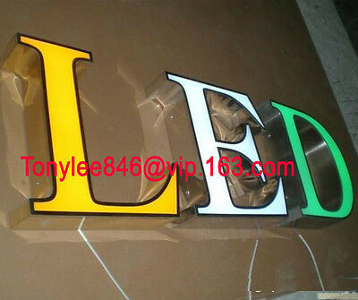 CHANNEL LETTERS with frontlit LED,made by arylic and steel,Neon Sign,12inches