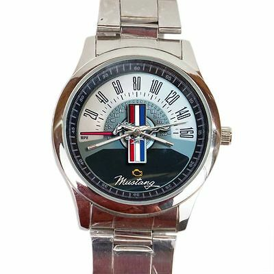Ford Mustang Speedometer Special Edition Sport Metal Watch##!$