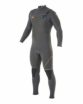 NEW QUIKSILVER™  Mens AG47 2X Bonded 4.5/4MM Chest Zip Steamer Wetsuit Surf