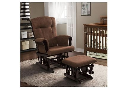 Baby Relax Glider and Ottoman, Espresso Nursery Chair Kelcie Furniture Rocking