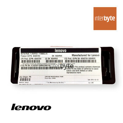 Lenovo 4Gb 1Rx8 Pc4-17000 Lp 1.2V 46W0784 Ibm Dimm Truddr4