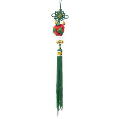 Green Chinese Knot Lucky Ball Good Luck Blessing Home Hanging Decor Ornament