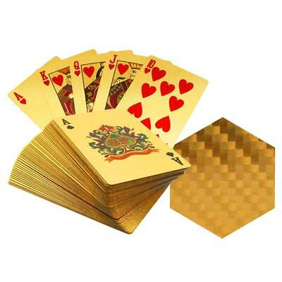 Creative Playing Cards with Geometric Pattern Gold Plated Collectable Gift